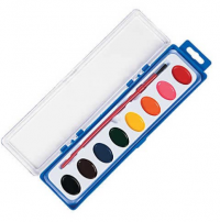 8-color paint tray with brush