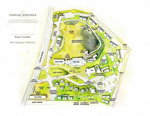 Map of Indian Springs Resort