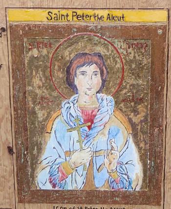 St. Peter the Aleut (icon found on beach)
